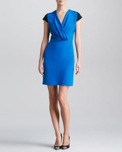 Derek Lam - Colorblock Surplice Dress