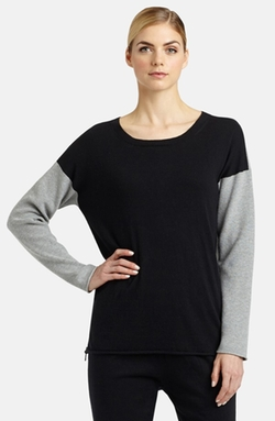 Lafayette 148 New York - Colorblock Cashmere Side Zip Sweater