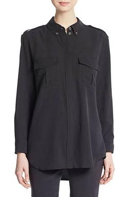 Equipment - Silk Roll-Tab Sleeve Shirt