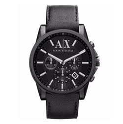 Armani Exchange - Leather Strap Watch