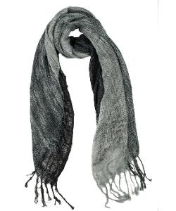 Elizabeth Koh  - Black And Grey Ombre Woven Scarf