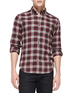 7 For All Mankind - Plaid Button-Down Shirt