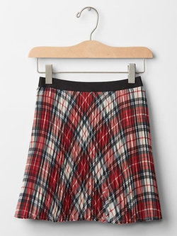 Gap - Plaid Pleated Circle Skirt
