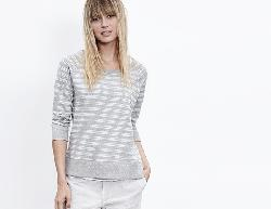 STRIPE VINTAGE HEATHERED RAGLAN  - Vintage Heathered Stripe French Terry