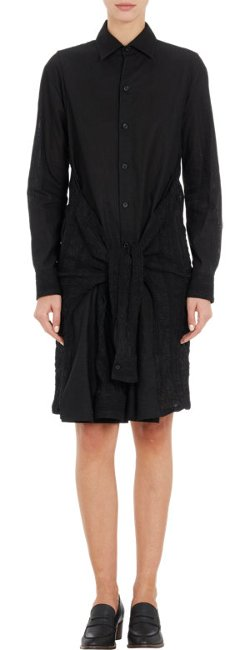 Regulation By Yohji Yamamoto  - Shirt-Sleeve Tie Dress