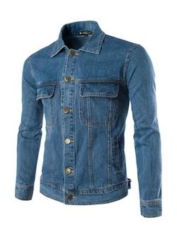 Allegra K - Classic Denim Jacket