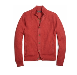 Brooks Brothers - Cotton Cashmere Mockneck Cardigan