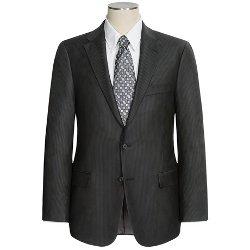 Hickey Freeman  - Beaded Multi-Tonal Stripe Suit