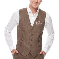 WD.NY - Brown Twill Suit Vest