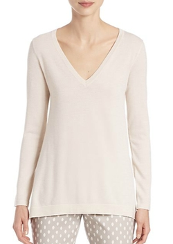 Peserico  - Lurex V-Neck Top