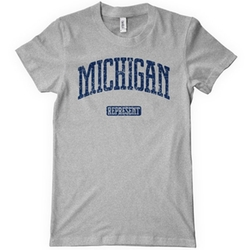 Smash Vintage - Michigan Represent T-Shirt