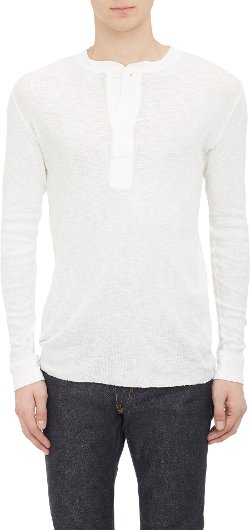 Iro  - Ribbed Henley Shirt