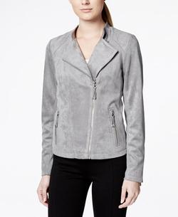 Calvin Klein - Faux-Suede Moto Jacket