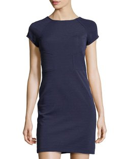 Julia Jordan - Short-Sleeve Ribbed Stretch-Knit Dress