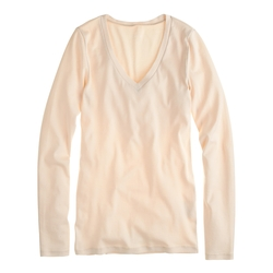 J.Crew - Long-Sleeve V-Neck T-Shirt