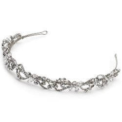 USA Bride - Silver-Tone Bridal Headband