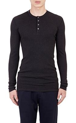 Dolce & Gabbana - Rib-Knit Henley Shirt