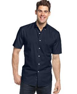 Club Room  - Short Sleeve Solid Twill Shirt