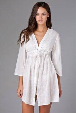 Rhona Sutton - Cottons Kimono Swim Cover Up