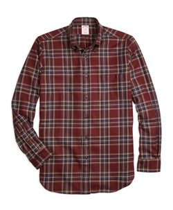 Brooks Brothers - Madison Saxxon Wool Plaid Sport Shirt