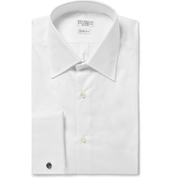 Brunello Cucinelli   - White Cotton Shirt