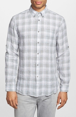 John Varvatos Star USA - Plaid Linen Sport Shirt