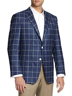 Saks Fifth Avenue Collection  - Samuelsohn Two-Button Windowpane Sportcoat