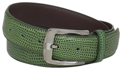 Stacy Adams - Genuine Leather Lizard Skin Belt