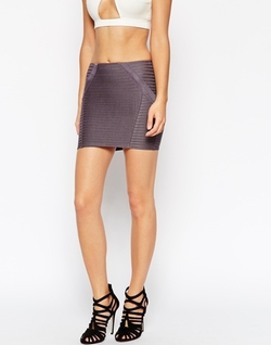 Asos Collection - Bandage Rib Mini Skirt
