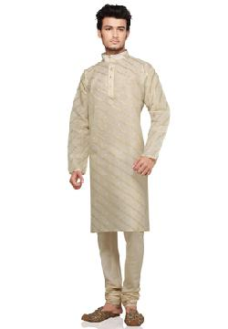 utsavfashion - Cream Pure Silk and Cotton Readymade Kurta