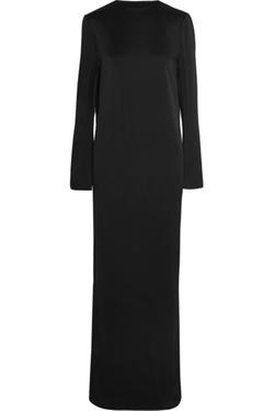 Haider Ackermann  - Silk-Trimmed Split-Back Crepe Gown
