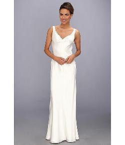 ABS Allen Schwartz  - Sleeveless V-Neck Gown With Embellished Back