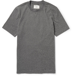 Folk - Poplin-Panelled Cotton Jersey Shirt