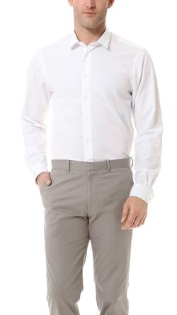 Mr. Start  - Square Collar Poplin Shirt
