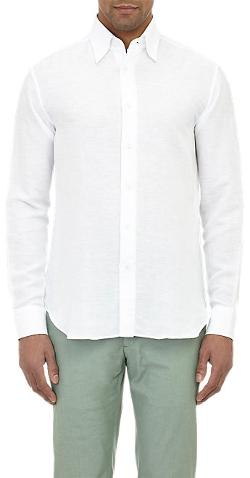 Brioni - Slub-Weave Shirt