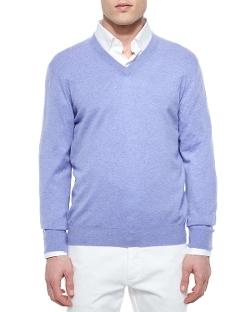 Ermenegildo Zegna   - Premium Cashmere V-Neck Sweater