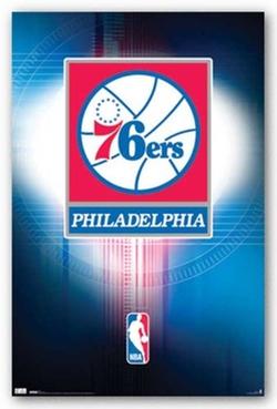 Generic - Philadelphia 76ers Logo Poster NBA Basketball Team Poster