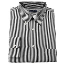 Croft & Barrow - Striped Easy-Care Button-Down Collar Dress Shirt