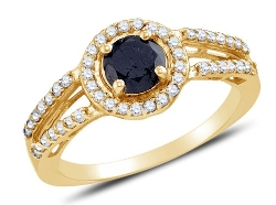 Sonia Jewels - Black and White Diamond Engagement Ring