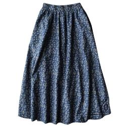 Y-YApparel  - Daisy Floral Elastic Waist Maxi Long Skirt