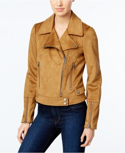Lucky Brand - Faux-Suede Moto Jacket