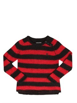 Zadig & Voltaire  - Striped Wool Blend Sweater
