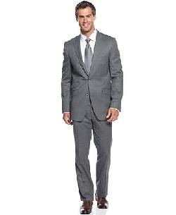 Kenneth Cole  - Suit Black Label Grey Trim Fit