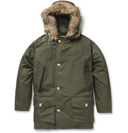 Woolrich  - Arctic Parka Coyote-trimmed Down-filled Coat