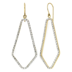 Diamond Fascination - Open Geometric Earrings