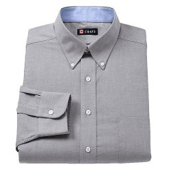 Chaps - Oxford Solid Button-Down Collar Dress Shirt