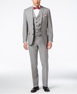 Ryan Seacrest Distinction  - Multi-Color Checked Slim-Fit Suit