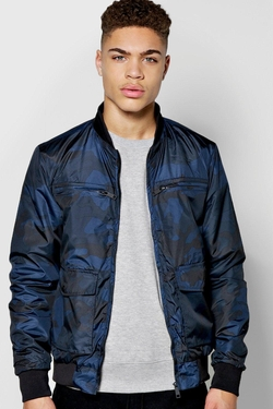 Boohoo Man - All Over Camo Print Bomber Jacket