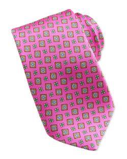 Kiton  - Tossed Squares Neat Printed Tie