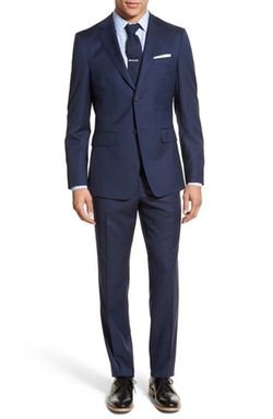 Jack Spade - Trim Fit Solid Wool Suit